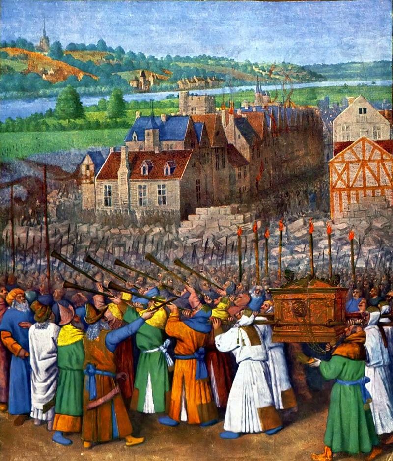 Tranh vẽ miêu tả cuộc tuần hành của người Do Thái quanh thành Jericho