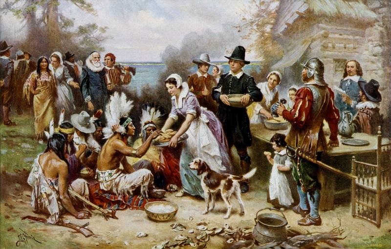 Những người phụ nữ của thuộc địa đang chiêu đãi những vị khách Ấn Độ bằng đồ ăn