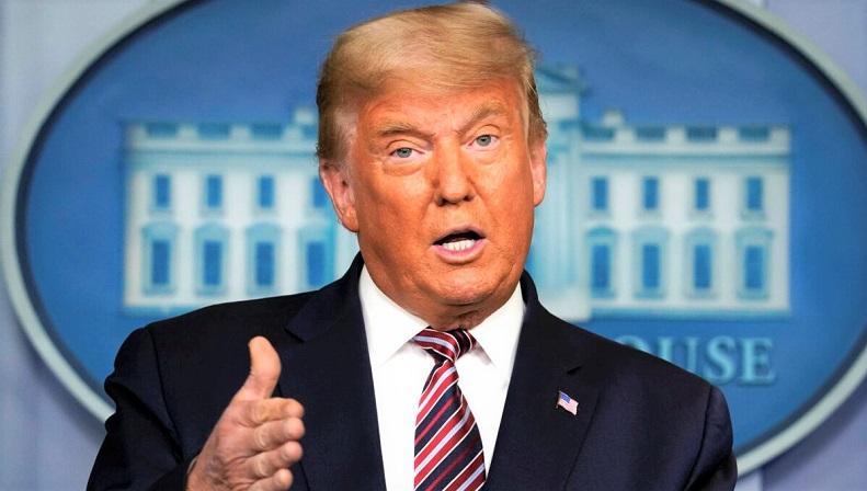 Tổng thống Donald Trump phát biểu tại Nhà Trắng ở Washington vào ngày 5/11/2020