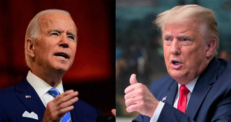 Ảnh kết hợp: Tổng thống Donald Trump và ứng cử viên tổng thống của đảng Dân chủ Joe Biden