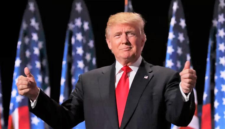 Tổng thống Donald Trump phát biểu tại New York vào ngày 9/11/2016