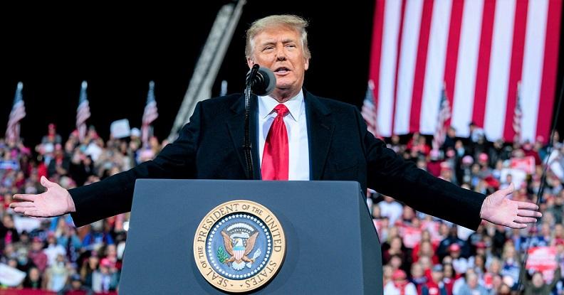 Tổng thống Donald Trump phát biểu tại buổi mít tinh ở bang Georgia vào hôm 6/12/2020