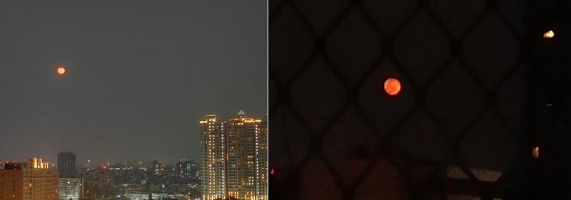 Trăng đỏ ở Cao Hùng và Đài Nam