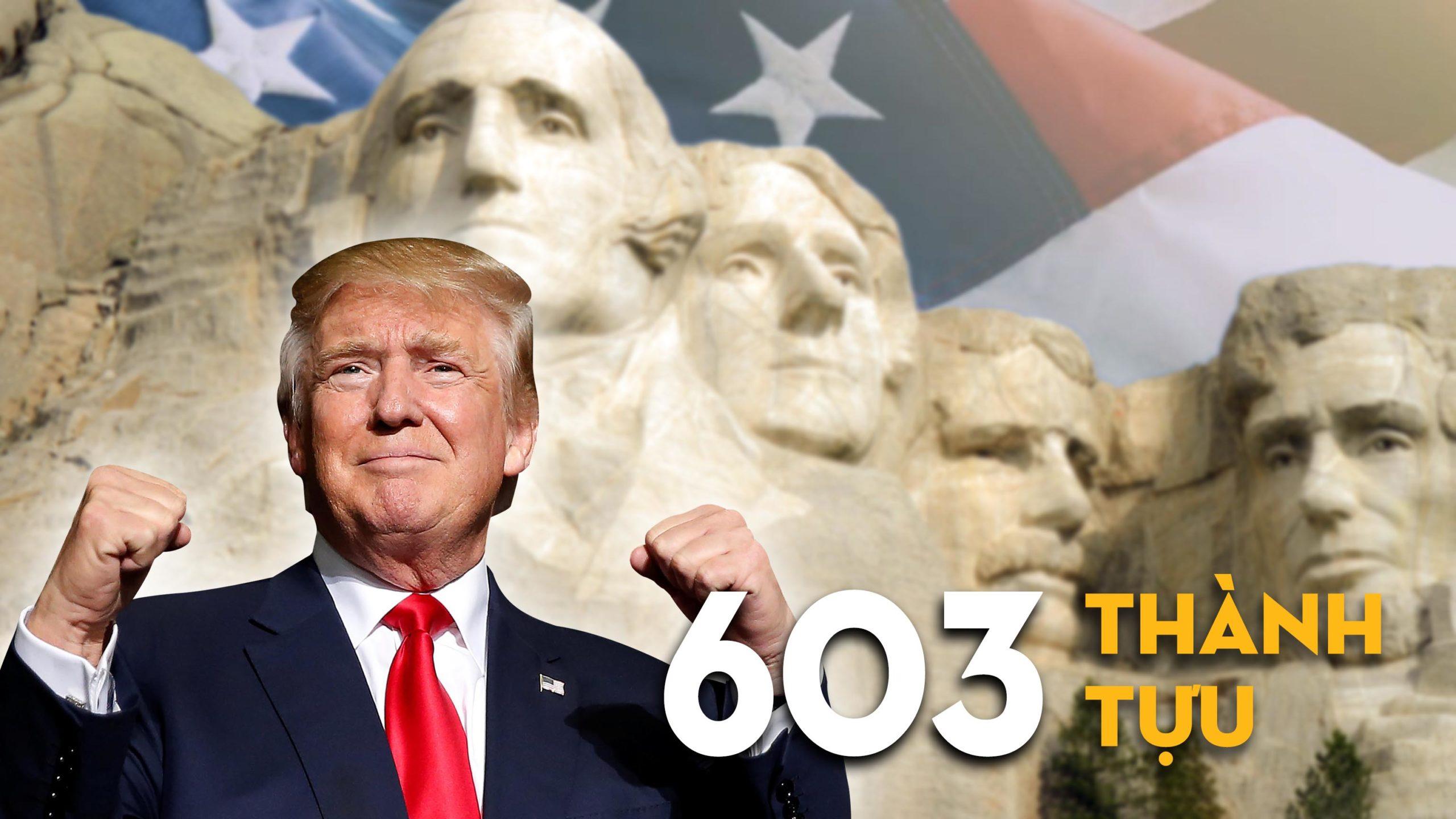 Nhìn lại 603 thành tựu của Chính quyền Tổng thống Mỹ Donald Trump. (Ảnh: Tinh Hoa)