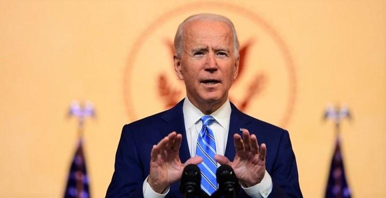 Tổng thống đắc cử Joe Biden phát biểu trong Lễ Tạ ơn ở Wilmington, bang Delaware vào ngày 25/11/2020.