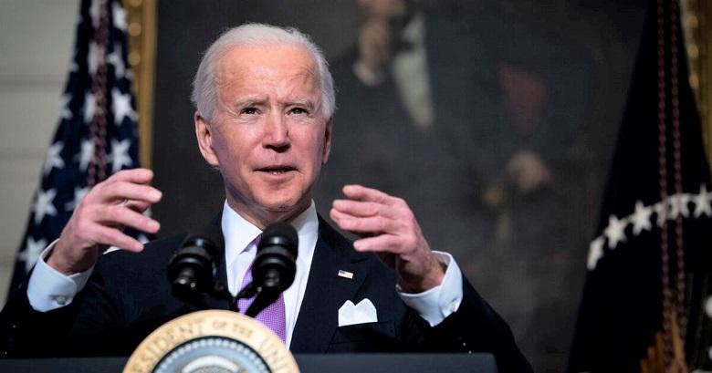Tổng thống Hoa Kỳ Joe Biden phát biểu về đại dịch COVID-19 trong Phòng ăn Nhà Trắng, Washington, D.C vào ngày 26/1/2021