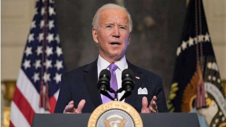 Tổng thống mới đắc cử Joe Biden phát biểu tại Nhà Trắng hôm 26/1/2021
