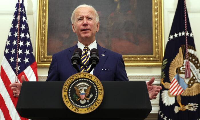 Tổng thống Hoa Kỳ Joe Biden phát biểu trong một sự kiện vào ngày 22/1/2021