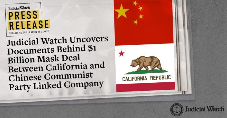 Judicial Watch vén màn bí mật sau thương vụ tỉ đô giữa bang California và Công ty Trung Quốc