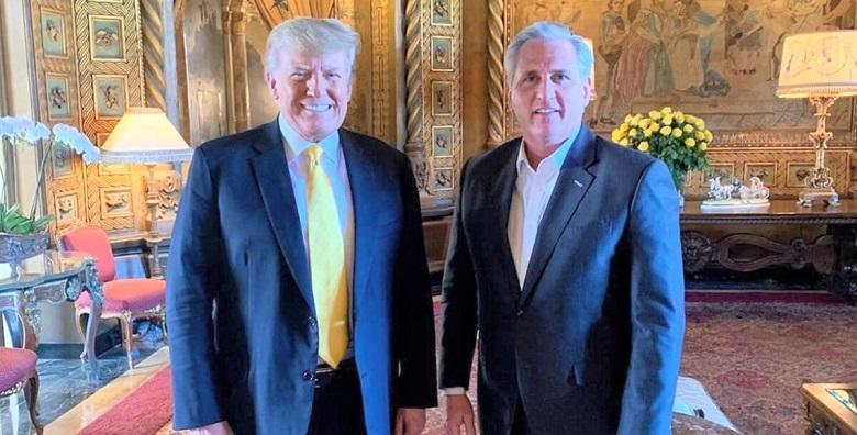 Cựu Tổng thống Donald Trump đã tổ chức một cuộc họp với Lãnh đạo thiểu số tại Hạ viện Kevin McCarthy tại Florida vào hôm 28/1/2021