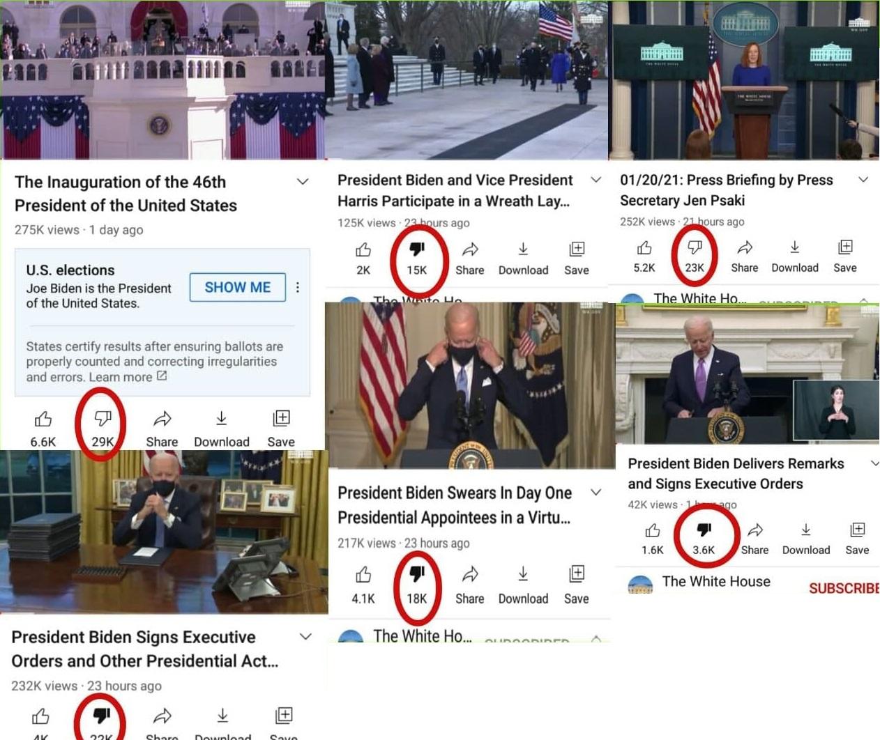 Youtube xóa bớt lượt 'dislike' video họp báo của Chính quyền Joe Biden - Ảnh 4