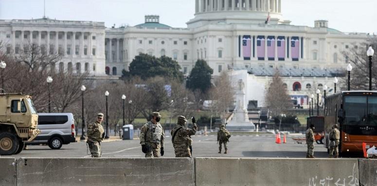 An ninh xung quanh tòa nhà Capitol ở Washington vào ngày 15/1/2021