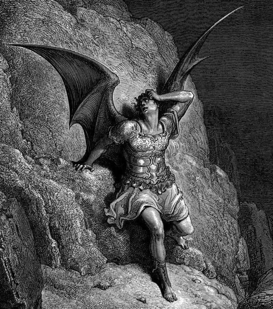 Mô tả về Satan, nhân vật phản diện trong Thiên đường đã mất của John Milton khoảng năm 1866. (Tranh: Gustave Doré qua Wikipedia)