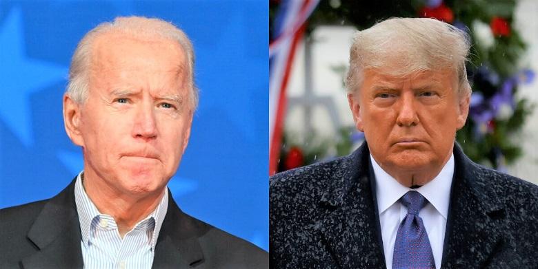 Tổng thống Donald Trump và ứng cử viên tổng thống của đảng Dân chủ Joe Biden trong ảnh kết hợp