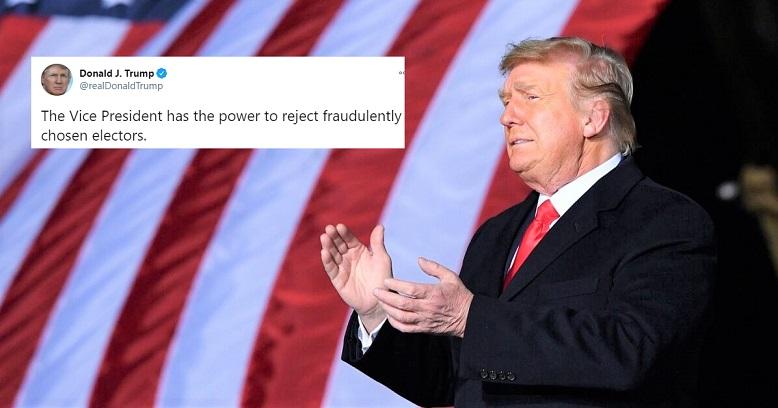 Tổng thống Donald Trump phát biểu trong một cuộc mít tinh ủng hộ các thượng nghị sĩ đương nhiệm của Đảng Cộng hòa Kelly Loeffler và David Perdue trước cuộc đưa vào Thượng viện ở Dalton, Georgia vào ngày 4/1/2021