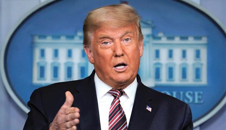 Tổng thống Donald Trump phát biểu tại Nhà Trắng ở Washington Thứ Năm, vào ngày 5/11/2020