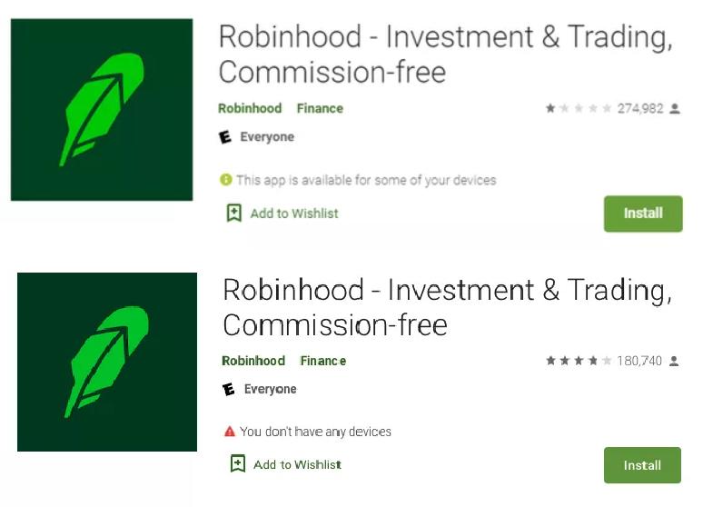 """Vụ phố Wall """"ôm hận"""" trước GameStop: Google nâng sao của Robinhood bằng cách xóa gần 100.000 đánh giá tiêu cực - Ảnh 2"""