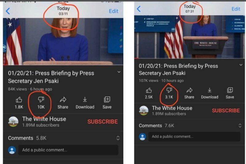 Youtube xóa bớt lượt 'dislike' video họp báo của Chính quyền Joe Biden - Ảnh 3