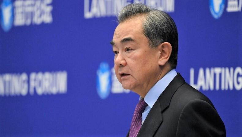 Bộ trưởng Ngoại giao Trung Quốc Vương Nghị phát biểu tại Diễn đàn Lanting về quan hệ Trung Quốc-Hoa Kỳ ở Bắc Kinh vào ngày 22/2/2021