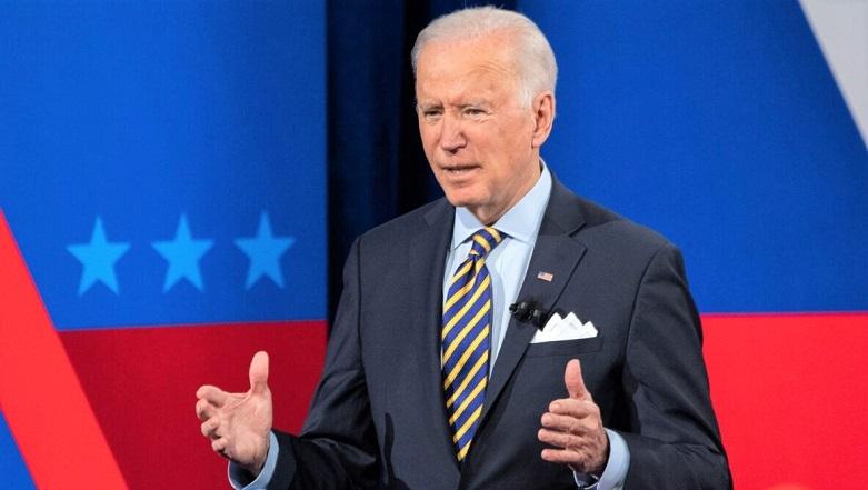 Tổng thống Joe Biden tham gia một tòa thị chính CNN tại Nhà hát Pabst ở Milwaukee, bang Wisconsin, ngày 16/2/2021