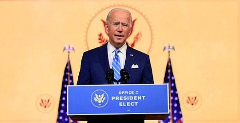 Tổng thống đắc cử Joe Biden phát biểu tại Lễ Tạ ơn tại Nhà hát Queen vào ngày 25/11/2020