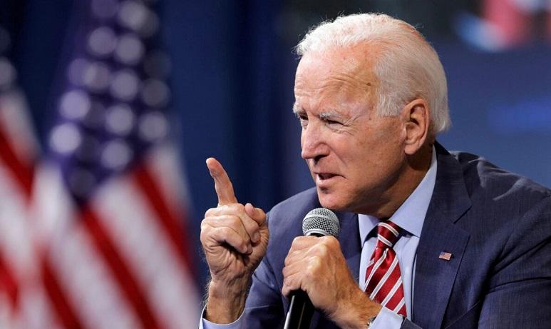 Ứng cử viên đảng Dân chủ và cựu Phó Tổng thống Joe Biden phát biểu trong một diễn đàn ở Las Vegas, Nevada vào ngày 2/10/2019.
