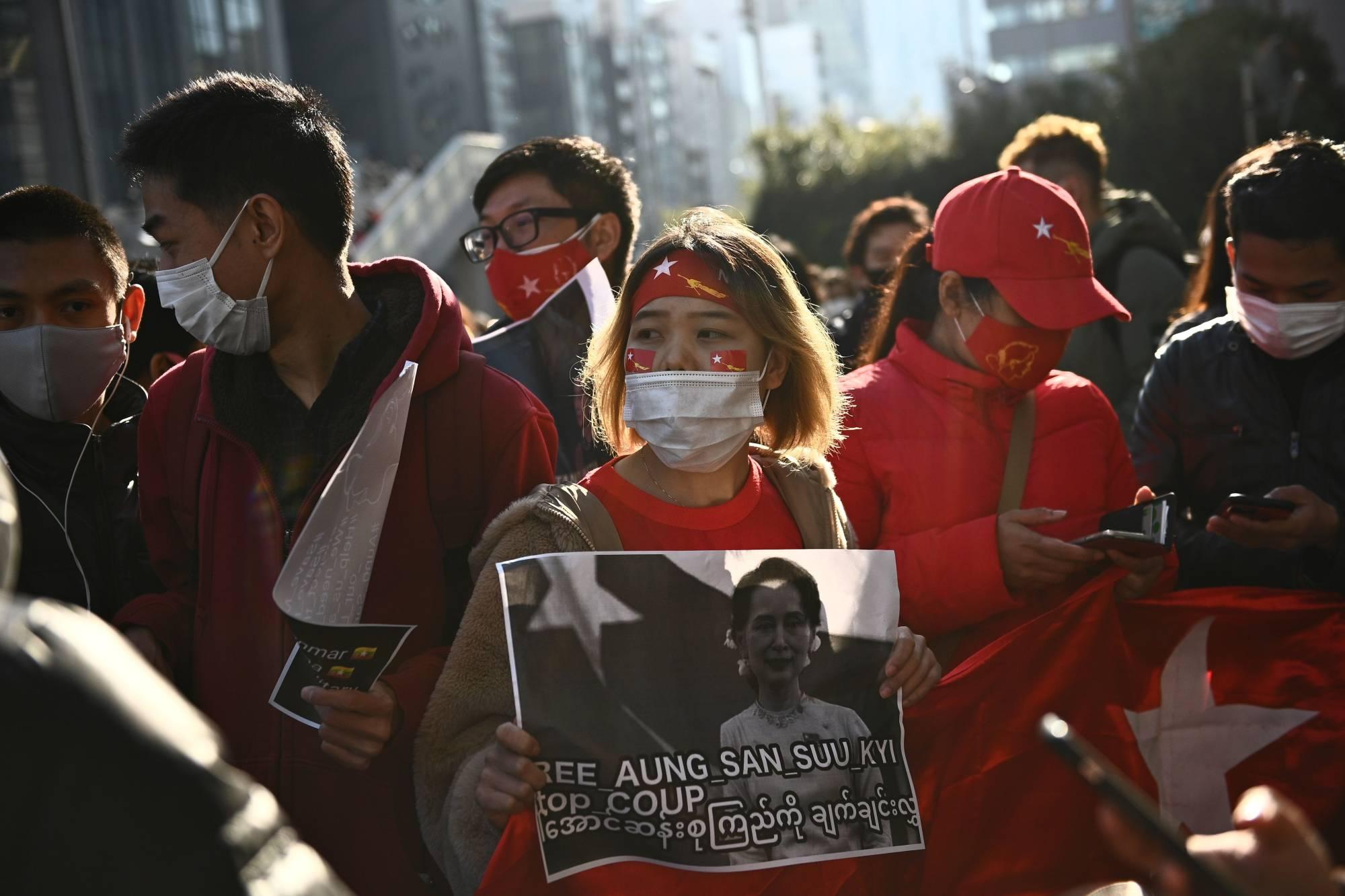 Cộng đồng Myanmar ở Nhật Bản sốc và lo lắng sau khi bà Aung San Suu Kyi bị giam giữ - Ảnh 2