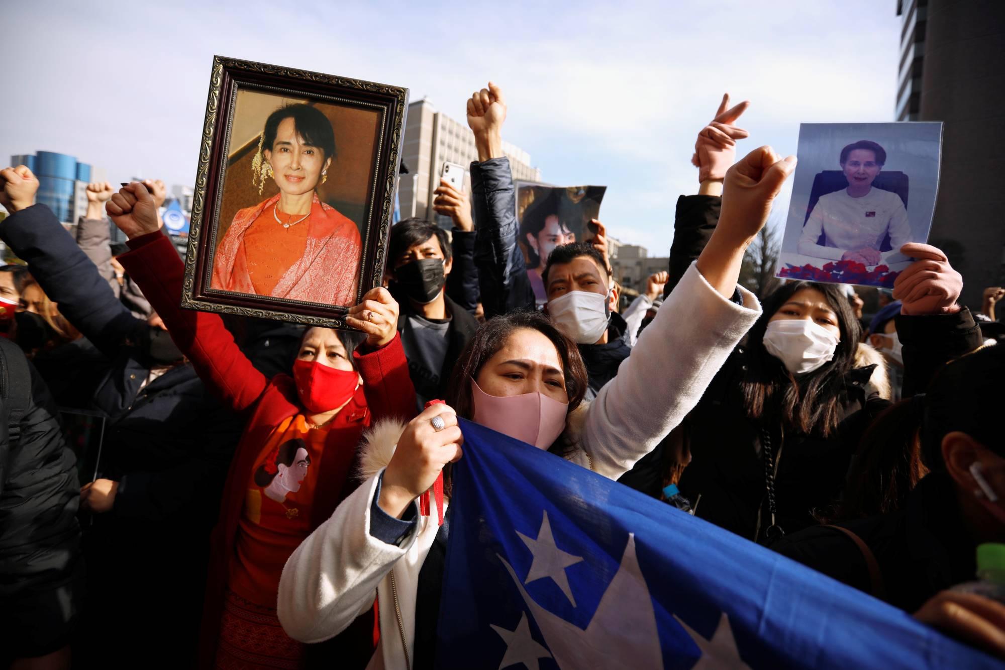 Cộng đồng Myanmar ở Nhật Bản sốc và lo lắng sau khi bà Aung San Suu Kyi bị giam giữ - Ảnh 1