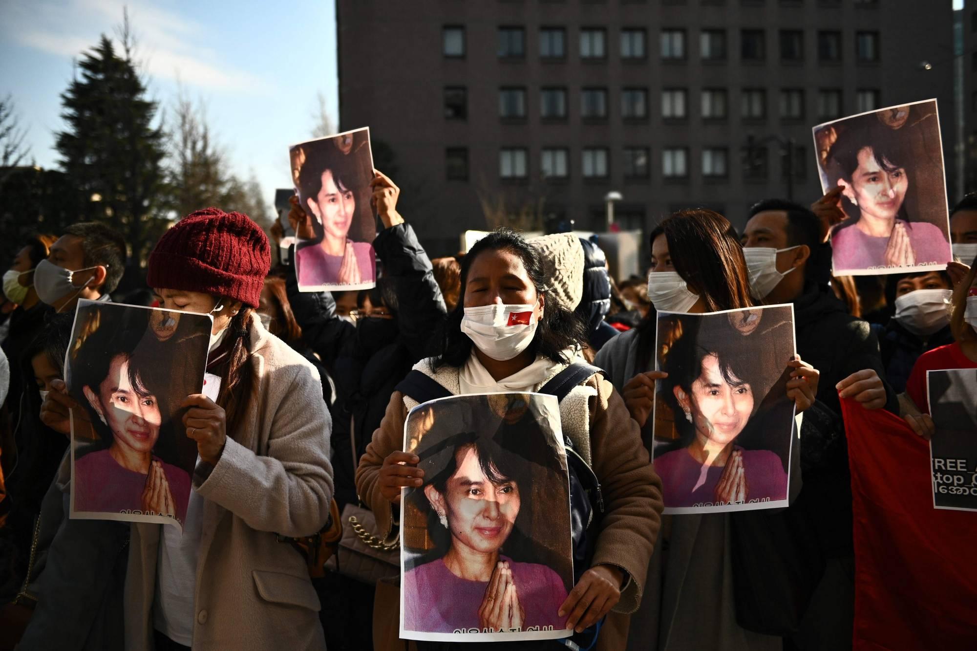 Cộng đồng Myanmar ở Nhật Bản sốc và lo lắng sau khi bà Aung San Suu Kyi bị giam giữ - Ảnh 4