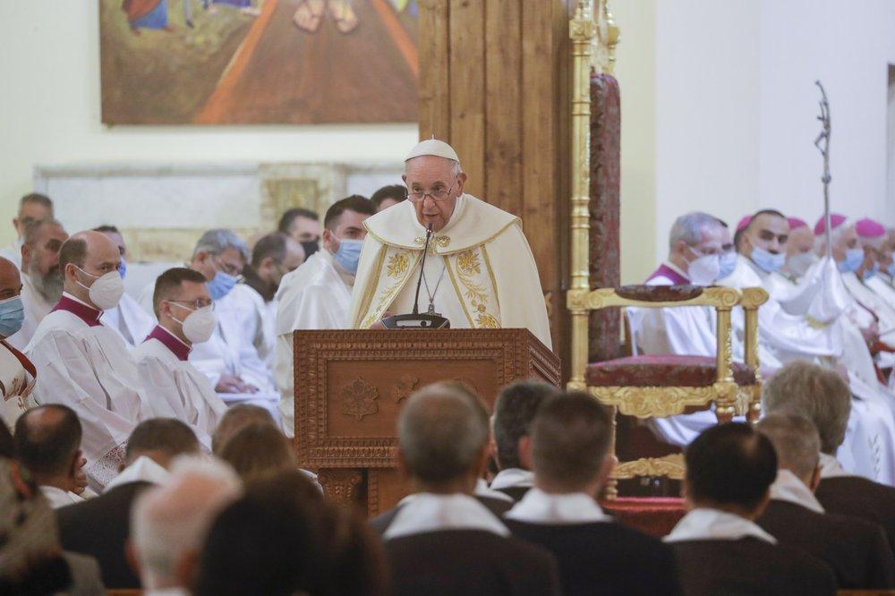 Giáo hoàng cùng giáo sĩ Shiite hàng đầu Iraq truyền tải thông điệp chung sống hòa bình - Ảnh 4