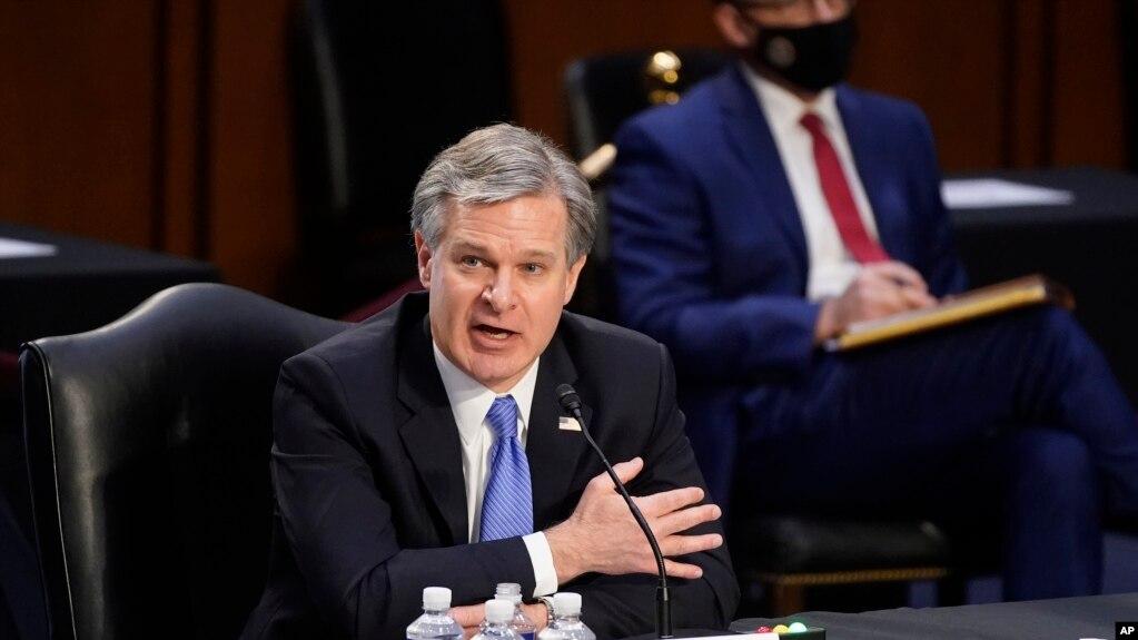 Giám đốc FBI: Không có bằng chứng những người bạo loạn tại Điện Capitol thuộc Antifa