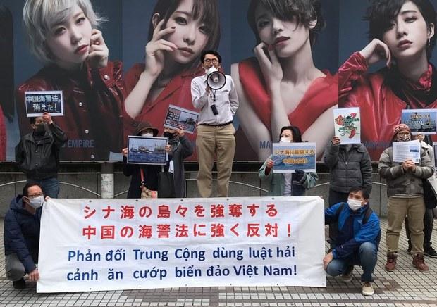 Người Việt tại Nhật biểu tình chống Luật Hải cảnh của Trung Quốc
