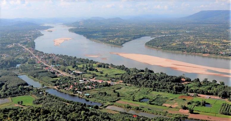 Quang cảnh sông Mekong giáp ranh giữa Thái Lan và Lào được nhìn từ phía Thái Lan ở Nong Khai, Thái Lan, vào ngày 29/10/2019