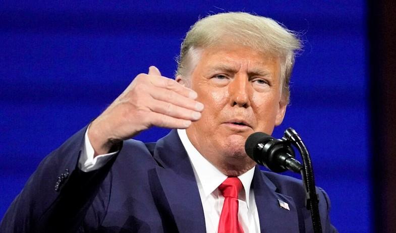 Cựu tổng thống Donald Trump phát biểu tại Hội nghị Hành động Chính trị Bảo thủ (CPAC), ở Orlando, Florida, ngày 28/2/2021