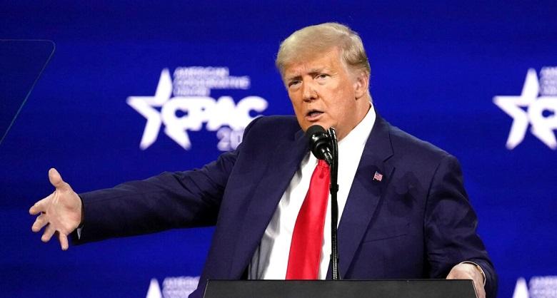 Cựu Tổng thống Donald Trump phát biểu tại Hội nghị Hành động Chính trị Bảo thủ (CPAC) ở Orlando, Florida vào ngày 28/2/2021