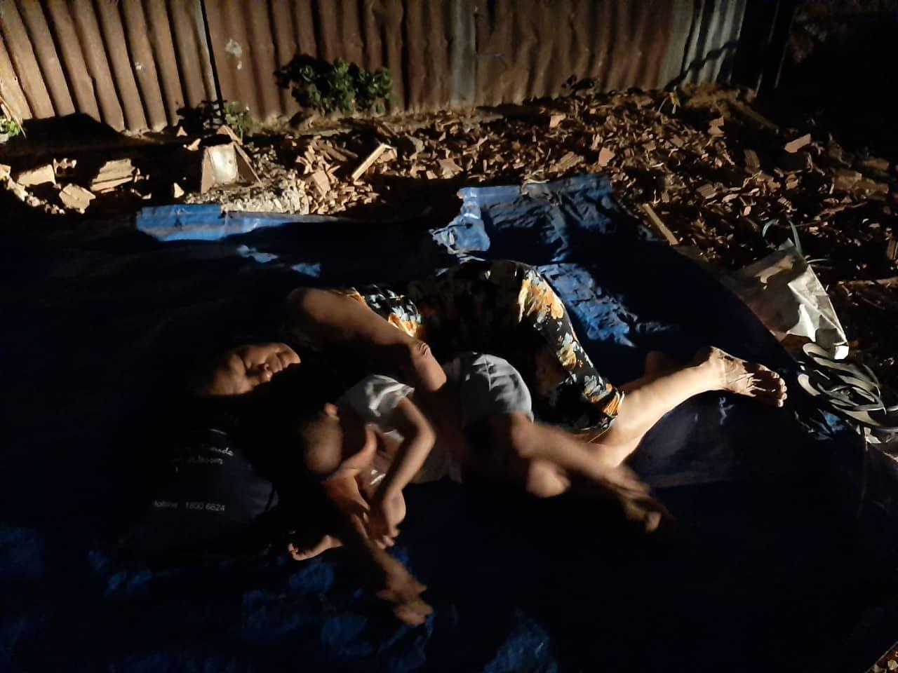 Người dân bị cưỡng chế đất tại Đồng Nai phải sống trong cảnh 'màn trời chiếu đất'. (Ảnh qua phapluat24h)