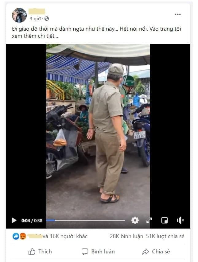 Chỉ trong chưa đầy 3 giờ, clip đã thu hút hàng chục ngàn lượt chia sẻ và bình luận. (Ảnh chụp màn hình)