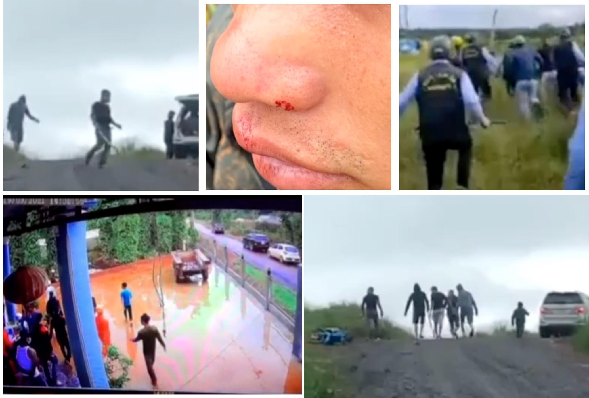 Nhóm người lạ mặt thường xuyên có các hành vi gây rối, tấn công người dân tại khu vực điện gió. (Ảnh qua Thanh Niên)